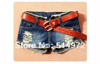 New 2014 Summer Dress Women Denim Short Hole Out Turn up Ladies Short Jeans Slim Shorts Free Shipping