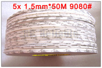 5x 1.5mm*50 Meters Slim 9080# Double Sided Sticky Tape for iphone Cellphone LCD Display Touch Screen Repair *Free Shipping*
