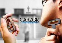 Free shipping Wholesale 5pcs/lot Pocket Carzor Ultra-portable Card Shaver Mini Razor