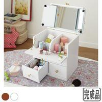 Solid wood dressing birthday gift jewelry box dresser storage box mirrored vanity table
