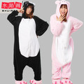 New Adult Animal Lovely Black Pig Pajamas Sleepsuit Onesie Sleepwear Unisex