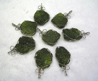 925 silver top natural moldavite pendant - - - - space