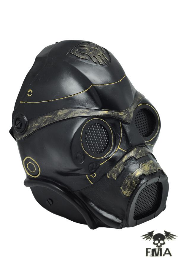 Steele Mask Fma Steel Mesh Black Gold Mask