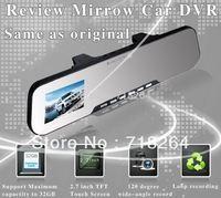 free shipping! 2.7 inch HD TFT LCD Car DVR with Car rear view camera,G-sensor
