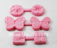 2015 Real Fda free Shipping 3pcs/set New Mini 2.1cm/3.5cm/4cm Flower And Butterfly Food Grade Handmade Fondant Mold Crafts Diy