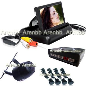 Parking sensor system Assistance 4.3 inch monitor camera system with 4 sensors radar detector  visible parking sensor AR-854
