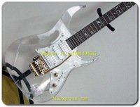 Wholesale - JEM 7V Steve Vai Signature Clear plexiglass Hot  Glass 7v Guitars - No Case E1