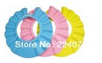 free shipping 2pcs/lot Adjustable Safe Shampoo Shower Bath Cap for Baby Children