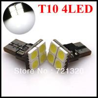 Free shipping + Best Price + Wholesale 10pcs/lot + T10 W5W 194 168 4 5050 SMD LED Car Side Light Wedge Bulb Lamp led  12V