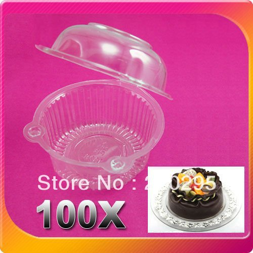 Free Shipping 50PCS/LOT Plastic Single Individual Cupcake Muffin Dome Holders Cases Boxes Cups Pods Alibaba Express,Wholesale(China (Mainland))