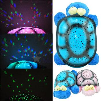 4Pcs/Lot Snail Shadow Lamp Music Sleep Starry Sky Creative Valentines Gift Dolls Stuffed Plush Toys For Children Kids Boys Girls