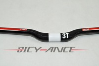 Promotion 31.8mm*640mm Handlebar 3T ERYX TEAM Full carbon MTB Bicycle Riser handlebar Black with Red 31.8mm*640mm