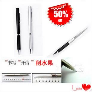 Outdoor pen knife ballpoint pen knife multifunctional pen gift tools pencil sharpener multifunctional