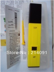 5pcs/lot Digital PH Meter/Tester 0-14 Pocket Pen Aquarium coming with hard case(China (Mainland))