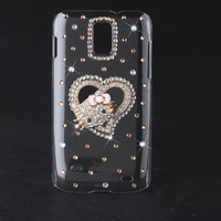 Bling Diamond Lovely Cat Hard Back Case For Samsung Galaxy S2 Skyrocket I727 AT&T Phone