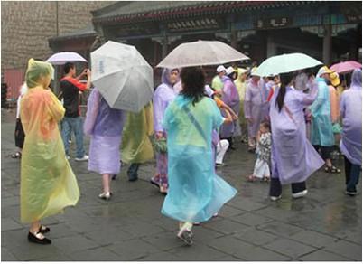 one-off travel rain coat and disposable rain poncho(China (Mainland))
