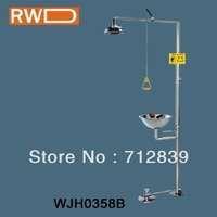 Stainless Steel Emergency Shower for Eye with foot tradle WJH0358B
