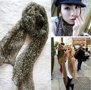 Scarf silk scarf female silk scarf cape chiffon leopard print scarf vivi hot-selling