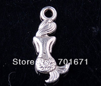 Free Shipping 100pcs/lot DIY Zinc Alloy Pendant mermaid Tibetan Silver pendants  Fit Charms Jewelry Making V4262