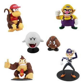 Funny ! 6x Super Mario Kon Waluigi Ghos Figure Set
