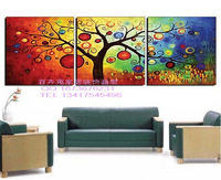 Pure hand painted oil painting on canvas frameless decorative abstract painting pachira lucky tree