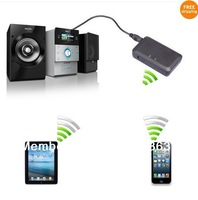 Free shipping, Bluetooth Stereo Audio Music Receiver Adapter for iPhone iPod Samsung PC Black