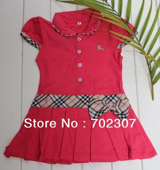 2013 new design girls beautiful Pleated tennis  dress 5pcs/lot  BX15