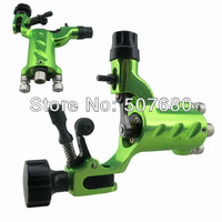 Pro Green Dragonfly Tattoo Machine Rotary Gun With RCA Jack 8 Colors Assorted Tattoos Supply