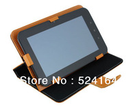 freeshipping  Wholesale 10pcs/lot case for 7 inch Tablet PC AllWinner Q88 A13 Leather Case Cover stand holder and bandage
