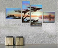 Hand painted oil painting frameless modern decorative canvas painting landscape
