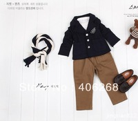 free shipping  2013 new best quality fashion  boy's suit coat preppy style children's Outerwear