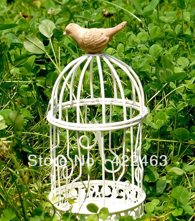 French countryside wedding candlesticks, wrought iron cage, candlestick/storm lantern(China (Mainland))