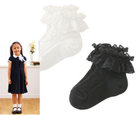 Free shipping 5pairs/lot Hot-selling popkid children laciness all-match socks princess socks breathable mesh dance socks