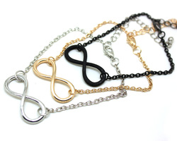 Minimum Order $10 Free Shipping Hot Sales Metal Alloy Infinity Sign Pendant Necklace 2013 New Hot N302(China (Mainland))