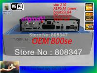 Digital satelite receiver OEM800se ,newdvb800se D6 version  , sim 210 M tuner , support 300M  wifi 800se hd free shipping