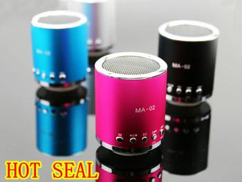 Free shipping Mobile Speaker original KAIDAER MA-02 TFcard portable speaker,100% cool quality+mini round speaker+Gift box pack
