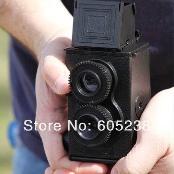 16 pcs DIY LOMO Camera Science Vo1.25 Twin Lens Reflex Camera Kit