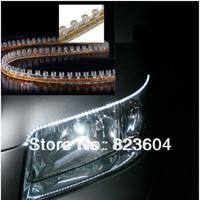 10pcs 24cm RED 24-LED Flexible PVC Strip Light IN/UNDER CAR  Waterproof