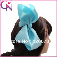 "HOT SALES 8.8"" big solid ribbon hair bows with hair clips for kids hair accessories CNHBW-1304161"