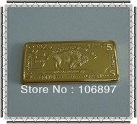 Free shipping (50 pieces / lot )5gram 24k Gold Buffalo 100 MILLS Bullon bar
