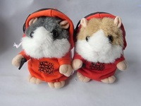32pcs/ctn DJ Mimi Pet Hamster Talking animal  talking animal pet gray/brown/yellow  3*AAA not include