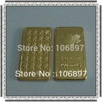 Free shipping (50 pieces / lot )5gram 24k Gold Maple Leaf 100 MILLS Bullon bar