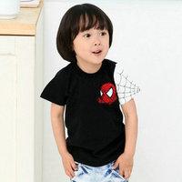 2014 summer  New Spiderman children's clothing boys girls short-sleeved T-shirt 1175