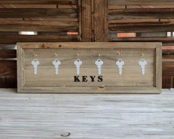 Zakka rustic allelopathic 6 towel hook keys key storage