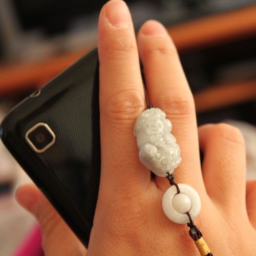 free shipping Jade peace buckle ring mobile phone chain dustproof plug usb flash drive pendant package linked to hot selling(China (Mainland))
