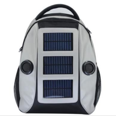 Sound speaker solar backpack 3W solar 3800mAh battery, emergency charge for phones and pad, free shipping(China (Mainland))
