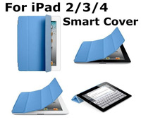 Slim Magnetic Leather Case Wake Sleep Stand Smart Cover for ipad 2 3 4 +Screen Protector
