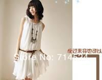 2013 New Arrive  Fashiong  Korean Summer Chiffon White Maxi Bow Skirt  ,7Colors,Free Size ,Free shipping