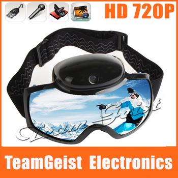HD 720p Ski Sport Snowboard Goggles Glasses Good Snow Ski Sports eyewear Sunglasses With 12M Pixel Video Camera Free Shipping
