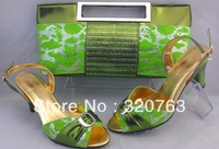 shoes, Italy design shoes matching bags,new designs, free shipping by DHL. wedding shoes, SB147 green  size39-42